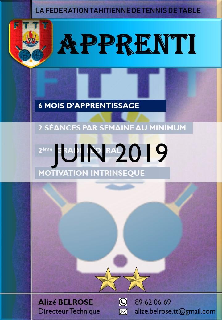 APPRENTI (juin 2019)