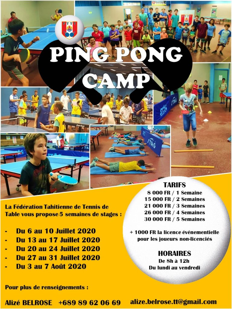 Affiche - Ping Pong Camp
