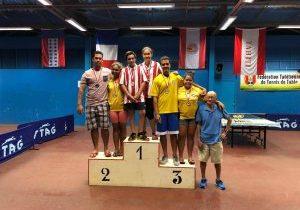 Podium - Doubles Mixtes - Vème Championnat de Polynésie 2017