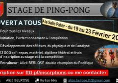 STAGE DE PING-PONG