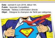 Championnats de Tahiti Seniors - 09.06.18