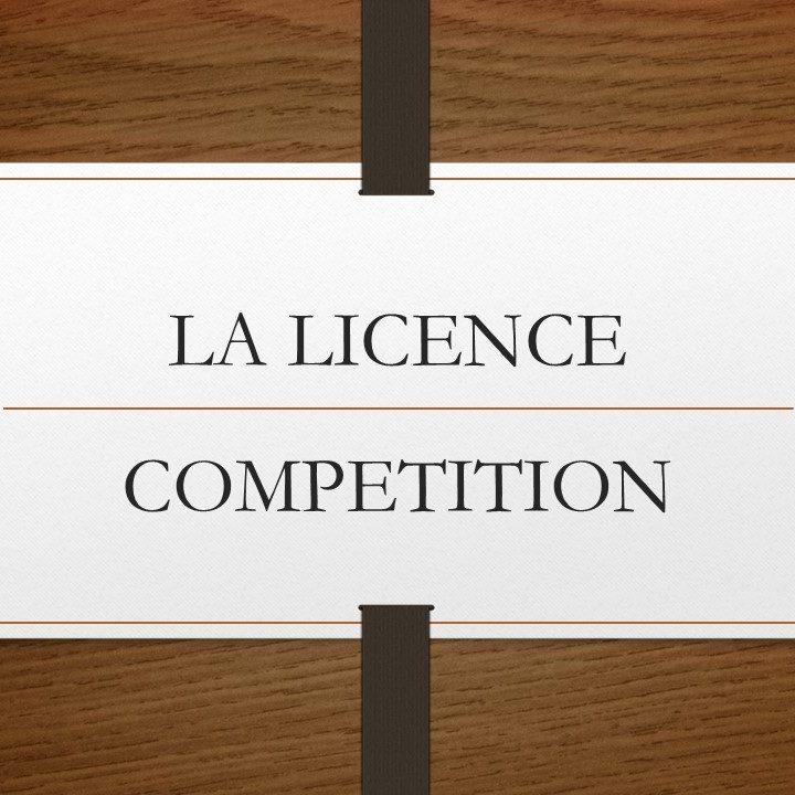 La licence compétition (2)